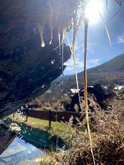 Mountain, Spring, River, Water, Sun, Freshness, Mount