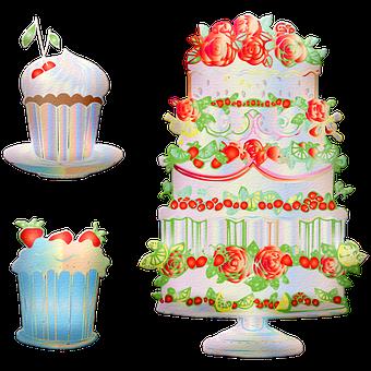 Cake, Cupcakes, Wedding Cake, Wedding, Food, Dessert