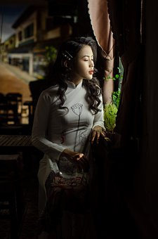 Woman, Ao Dai, Wedding, Fashion, Wedding Dress, Bride