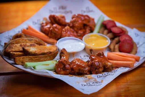 Food, Chicken Wings, Dish, Wings, Boneless, Wedges