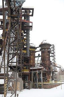 Czech Republic, Factory, Indsutrial, Winter, Snow