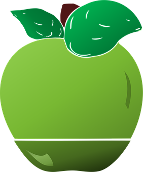 Green Apple, Apple With Leaves, Apples, Food