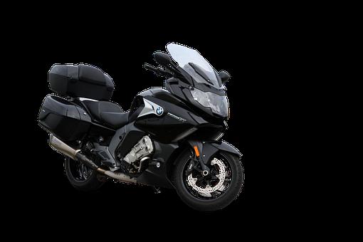 Motorcycle, Touring Bike, Isolated, Black