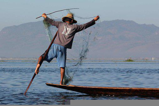 Boat, Fisherman, Lake, Fish, Sea, Water, Fishing Boat