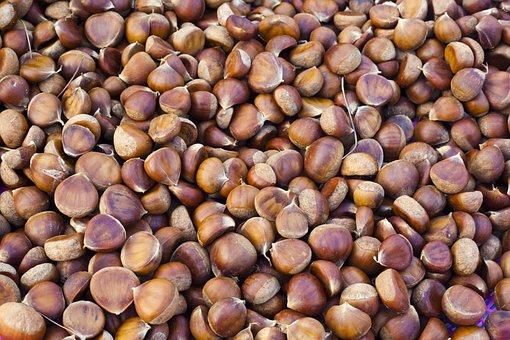 Chestnuts, Brown, Nuts, Food, Healthy, Edible
