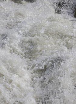 River, Discharge, Water, Waterfall, Foam, Clean, Lake