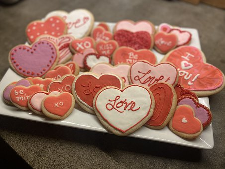 Cookies, Valentine's Day Cookies, Sugar Cookies
