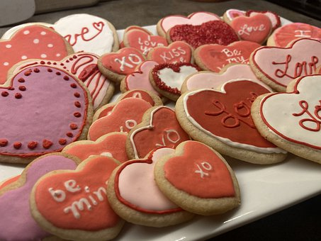 Cookies, Valentine's Day Cookies, Sugar Cookies