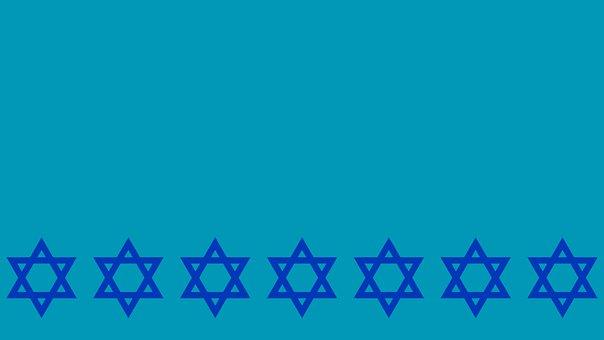 Digital Paper, Star Of David, Border, Copy Space