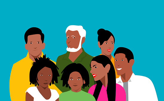 People, Diverse, Crowd, Character, Black, Multicultural