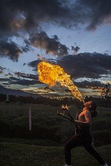 Fire, Circus, Festival, Summer, Firebreathing
