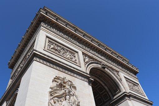 Paris, France, Triumphal Arch, Champs-elysees, Monument