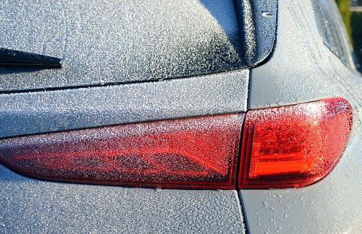 Auto, Frozen, Rear, Back Light, Scratch Ice, Frost