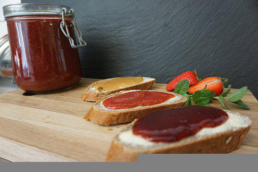 Bread, Marmalade, Food, Jam, Sweet, Fruit, Jar
