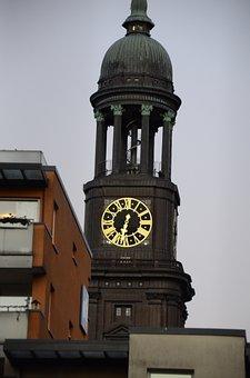 Hamburg, Church, Michel, Germany, Architecture