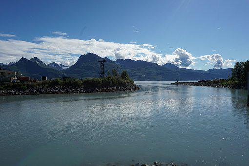 Alaska, Valdez, Landscape, Nature, Energy, Harbor