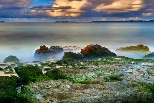 Hyam Beach, Beach, Rocks, Sea, Seascape, Ocean