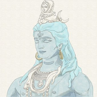 Shiva, Canvas, Art, Drawing, India, Painting, Indian