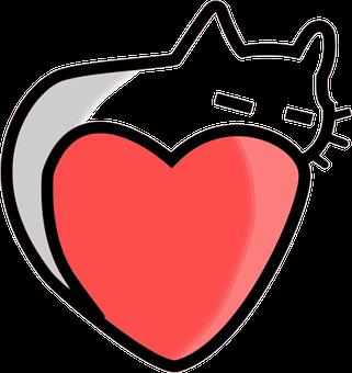 Heart, Cat, Love, Valentine, Animal, Feline, Kitty