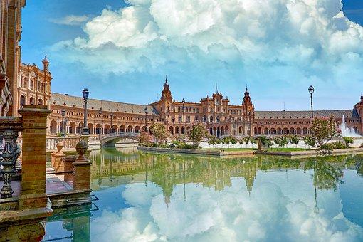 Architecture, Landmark, Clouds, Europe, Building