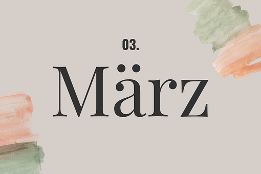 March, Design, Graphic, Graphic Design, Elegant