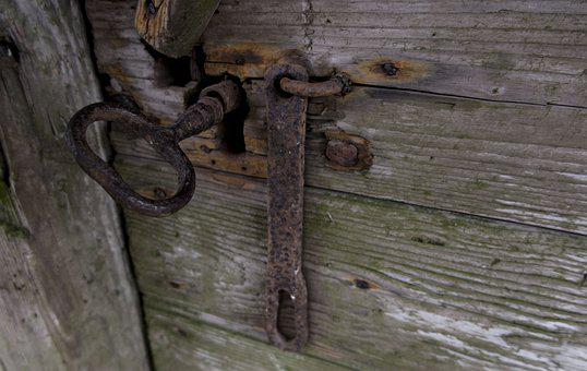Old, Door, Key, Metal, Building, Architecture, House