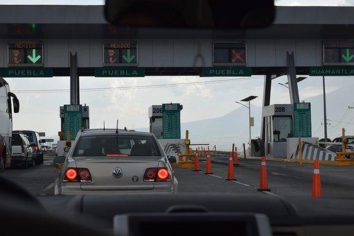 Peaje, Caseta, Puebla, Carretera, Autopista, Viaje