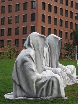 Monks, Pray, Silent, Sculpture, Meditation, Religion