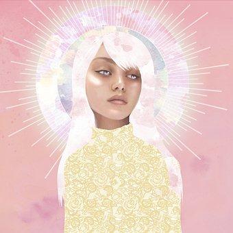 Saint, Girl, Female, Art, Holy, Sacred, Spiritual
