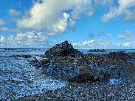 Coast, Sea, Ocean, Water, Shore, Seascape, Coastline