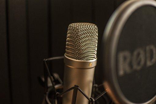 Microphone, Music, Singing, Sound Studio, Mic, Studio
