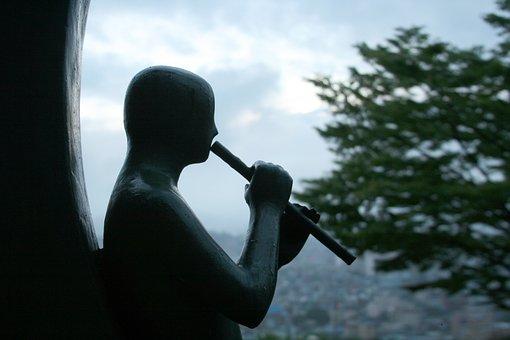 Statue, Flute, Instrument, Musical Instrument