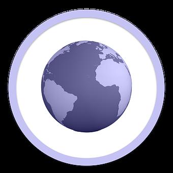 Icon, Earth, Globe, World, Planet, Symbol