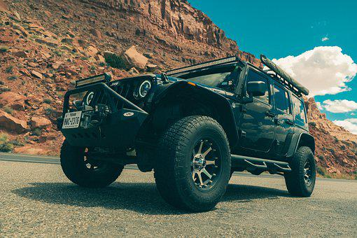 Road, Jeep, Wrangler, Vehicle, Cars, Offroad, Mountains
