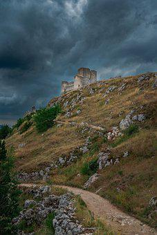 Rocca, Calascio, Abruzzo, Castle, Walls, Italy