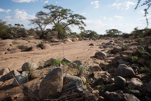 Riverbed, Dry, Dehydrated, Stones, Rocks, Boulders