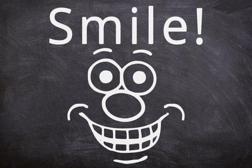 Smile, Chalkboard, Classroom, Blackboard, Chalk, Happy