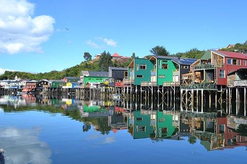 Paisaje Palafitos, Chiloé, Chile