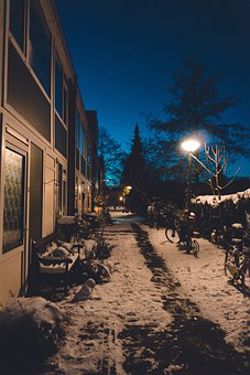 Street, Ice, Winter, House, Snow, Cold, Weather, City