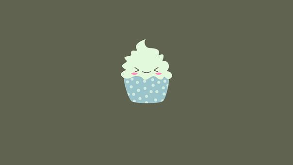 Cupcake, Smiley, Emoticon, Dessert, Sweet, Tasty, Food