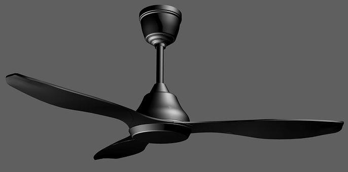 Fan, Ceiling Fan, Decorative, Decoration, Interior, 3d
