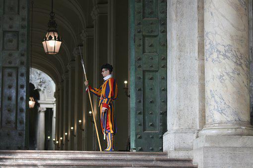 Swiss Guard, Apostolic Palace, Entrance, Building