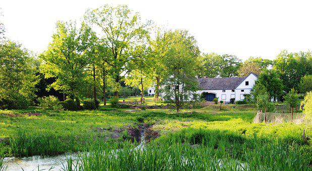 Farmhouse, Landscape, Czech Republic, South Bohemia