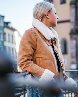 Woman, Fashion, City, Girl, Person, Jacket, Blond