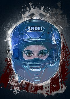 Woman, Helmet, Girl, Beauty, Motorcycle Helmet, Eyes