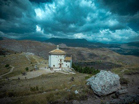 Church, Calascio, Abruzzo, Mountain, Holiday