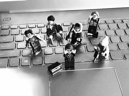 Lego On Laptop, Homeschool, Online Learning, Internet