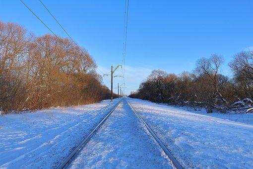 Winter Landscape, Railway, Winterscape, Winter, Nature