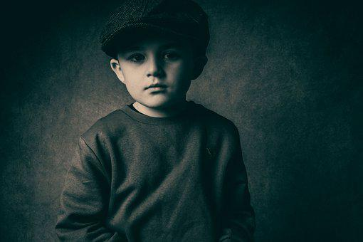 Boy, Flat Cap, Old-fashioned, Child, Hat, Flat, Cap