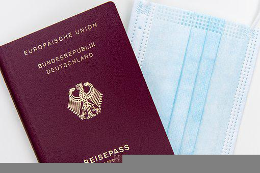 Passport, Face Mask, Pandemic, German, Travel, Vacation